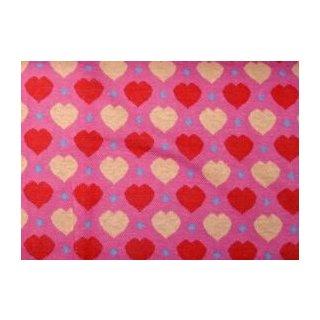 Jacquard Bündchen rosa Herzen
