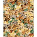 Labrador- Able Blätter, Baumwolle Webware