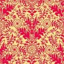 Ellery Ornament Gelb - Rot , Baumwolle Webware