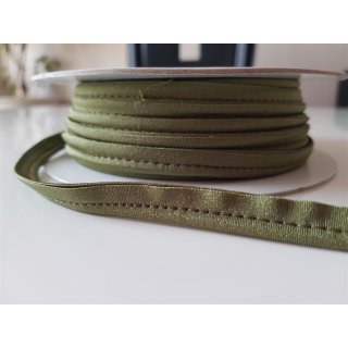 Paspelband elastisch Waldgrün