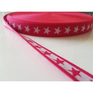 Gummiband Sterne pink