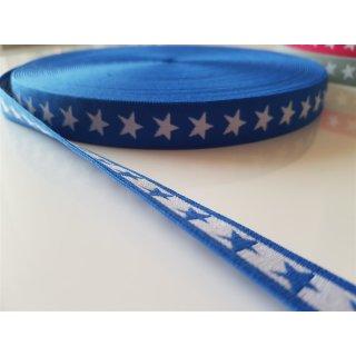 Gummiband Sterne blau