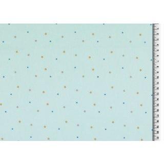 Punkte blau gelb grau , Baumwolle Webware