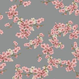Kirschblüten Sweat grau