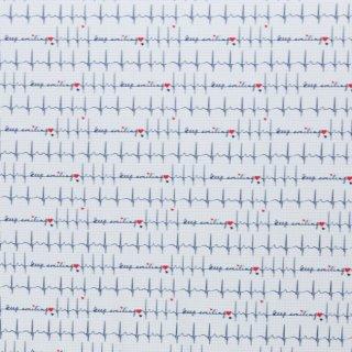 Toni - EKG Blau auf weiss