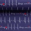 Toni - EKG weiss auf blau