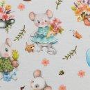 Spring Joy - Maus by Birgit Boley Kombistoff grau