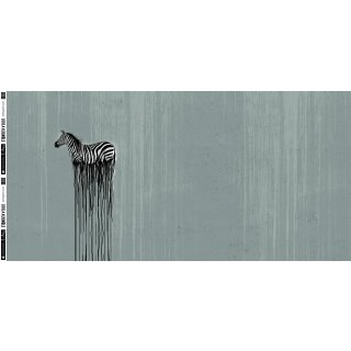 Wild Zebra by Thorsten Berger, Jersey Panel, smaragd