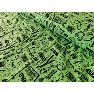 Neon Rock & Roll Jersey Grün
