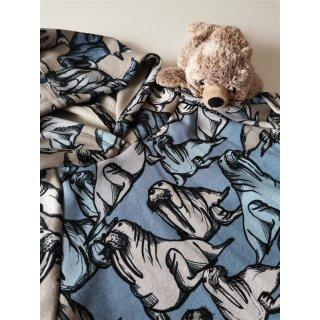 Walross Alpenfleece blau melange