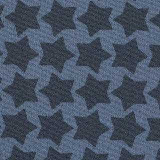 Staaars by farbenmix, beschichtete Baumwolle Sterne, rauchblau/dunkelblau