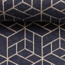 Cozy Collection by lycklig design, Geometrie Jeansblau, Jacquard- Jersey