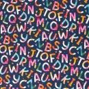 Kim, Buchstaben Baumwolle Webware