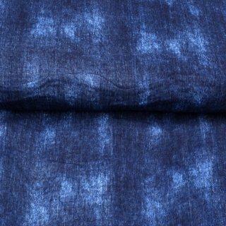 Musselin Used Look Batik Blau