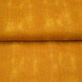 Musselin Used Look Batik Gelb