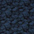 Michi Totenköpfe blau
