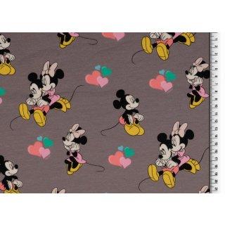Disney Mickey Maus & Minnie Maus grau Herzen
