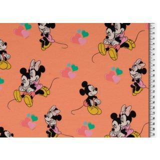 Disney Mickey Maus & Minnie Maus Lachs Herzen