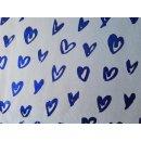 Herzen Folienprint Blau