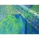 Batik Folienjersey grün-blau