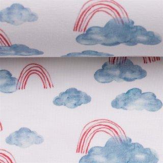 Ocean Breeze , Wolken Regenbogen hellblau-rot
