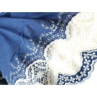 Jeans Bordüre Blau