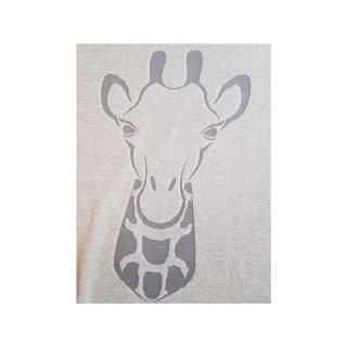 Jacquard-Jersey Giraffe Panel Beige