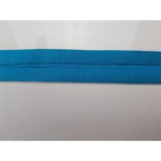 Jersey Schrägband Aqua 40/20 mm elastisch